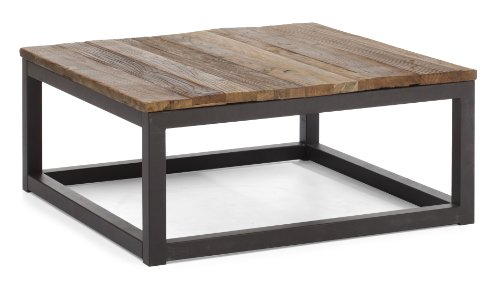 ZUO ERA Civic Center Square Coffee Table, Distressed Natural