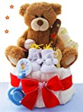 Super Star One Tier Baseball Diaper Cake - Great Gift
