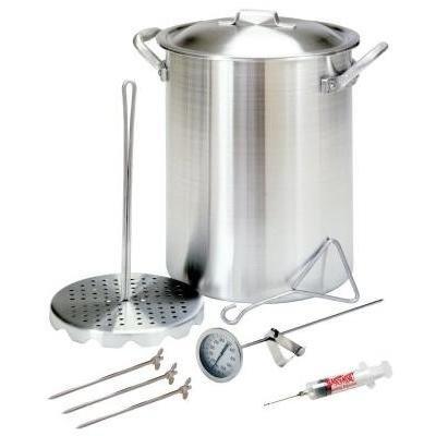 Bayou Classic 3025 30-Quart Aluminum Turkey Fryer Pot with Accessories