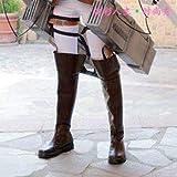 ロングブーツ エレン靴 コスプレ アニメ グッズ 47cm高 ヒール 3cm ブラウン ブラック サイズ いろいろ