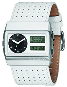 Vestal Men's MCW028 Monte Carlo White Lizard Print Leather Watch