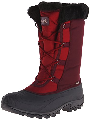 Kamik Women's Rival Insulated Winter Boot, Dark Red, 8 M US (Kamik Rival compare prices)
