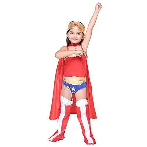 [Halloween Costume Supergirl Cosplay Child's Costume Red Size:XL] (Supergirl Costume Size 22)