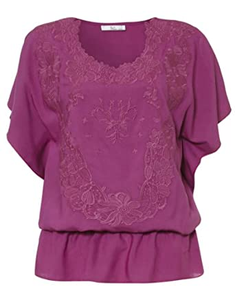 Klass Embroidered Top - Womans - 554PQS2022 - Magenta - 22