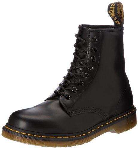 Dr. Martens Original 1460, Stivaletti Unisex Adulto, Nero (Black Smooth), 39 EU