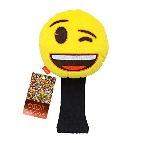 Emoji Wink-Coprimazza da golf, colore: giallo