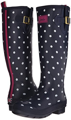 Tom Joule Welly Print, Damen Stiefel, Blau (NAVSPOT), 40/41 EU (7 UK) -