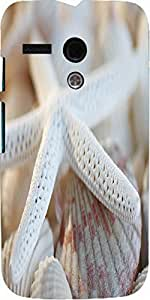 Snoogg White Finger Starfish Designer Protective Back Case Cover For Motorola...
