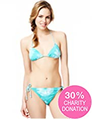 Fashion Targets Halterneck Tie Dye Bikini Top
