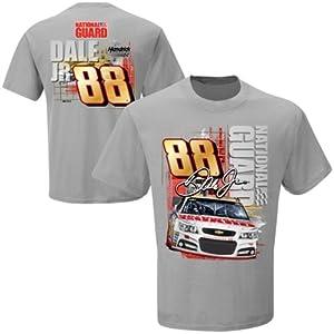 Dale Earnhardt Jr. #88 NASCAR National Guard Restart T-Shirt - Grey by Checkered Flag