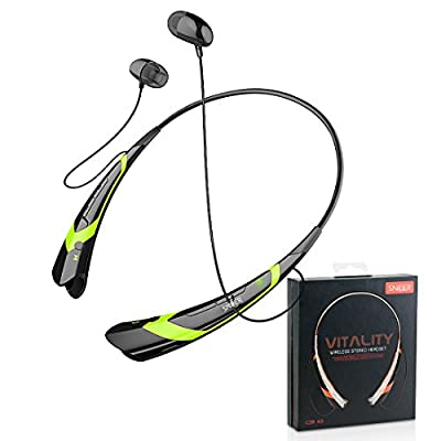 """SNEER® """"iSport"""" Series Premium 2014 Newest APT-X Mini Wireless Bluetooth Headset Stereo Sports/Running & Gym/Exercise Bluetooth Earbuds Headphones Headsets w/Microphone for Apple iwatch Iphone 6 5S 5C 5 4S 4, Ipad 2 3 4 New iPad,iPad Air Ipod, Android, S"""