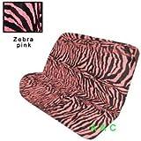 Universal-fit Animal Print Bench Seat Cover - Zebra Pink