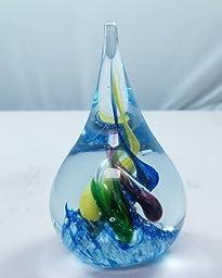 M Design Art Handcraft Glass Rainbow Millefiori Paperweight PW-1071 [Kitchen]