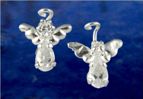 Angel Silver Stud Post Earings.