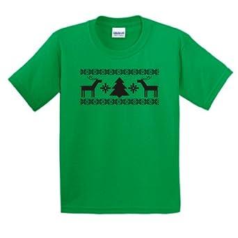 Merry Christmas Youth T-Shirt XL Green