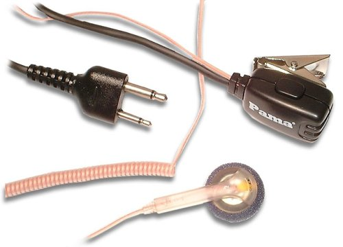 Pama - Cobra Easy Earpiece and Mic With PTT and Transparent Curly Cord