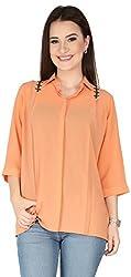 Soie Women's Button Down Shirt (6116(I)PEACH_Medium)