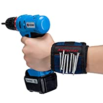 Aieternal - Super Strong Magnets Surround Almost Entire Wrist! Magnetic Wristband, Keeps Screws, Nails and Light Tools Handy While Working. (1-Pack)