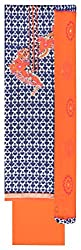 Gaurangi Fabrics Women's Cotton Unstitched Dress Material (Blue and Orange)