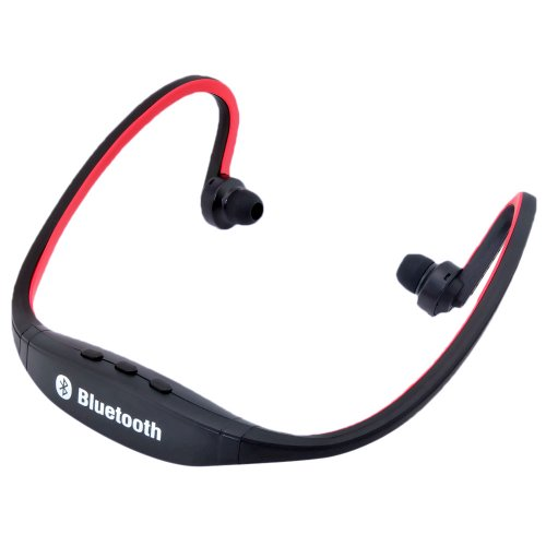 Dazone Red Wireless Bluetooth Headphones Headset Sports Hands-Free Stereo Earphone For Iphone 5S, Iphone 5, Iphone 4S, Iphone 5, Ipad 4, Ipad Mini, Ipod, Nokia Lumia 920 Samsung Galaxy S3 I9300, Galaxy S4 I9500, Note 3 N9005, Note 2 N7100, Sony Xperia Z1