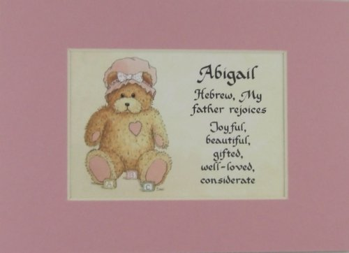 Personalized Baby Name Abigail Nursery Wall Decor Keepsake Gift Made In The Usa