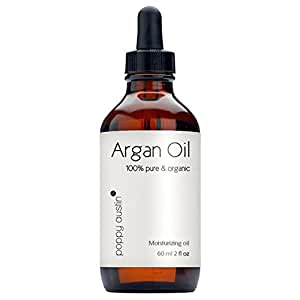 Poppy Austin 100% Pure Argan Oil for Hair and Skin. An Exquisite Triple Purified Moroccan Argan Oil. Made by Hand, Cold Pressed and Responsibly Sourced. Certified and Approved Organic, 2 fl.oz