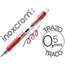 ROTULADOR ROLLER INOXCROM GEL RECTRACTIL CAMPUS ROJO 0,5 MM (12 unid.)