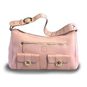 Pink Luxe Leather Diaper Bag