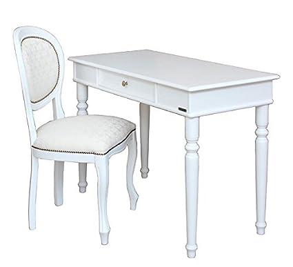 Composizione scrittoio e sedia laccati bianco