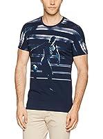 Dirk Bikkembergs Camiseta Manga Corta (Azul)