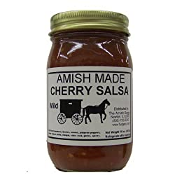Amish Salsa Mild Cherry - Two-16 Oz Jars