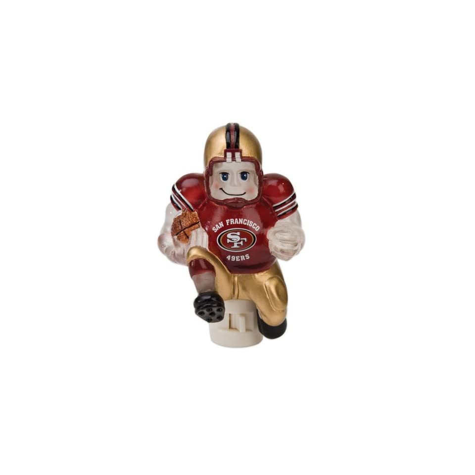 Pack of 2 NFL San Francisco 49ers Running Football Player Night Lights