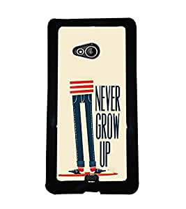 Printvisa 2D Printed Quotes Designer back case cover for Nokia XL 540- D4447