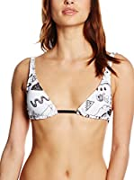 Mr. GUGU & Miss GO Sujetador de Bikini Symbols (Blanco / Negro)