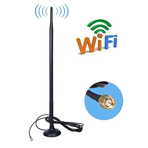SMA 4G Antenna,9DBI GSM High Gain 4G LTE Antenna Wifi Signal Booster Amplifier Modem Adapter Network Reception Long Range Antenna With (9DBI SMA Connector)