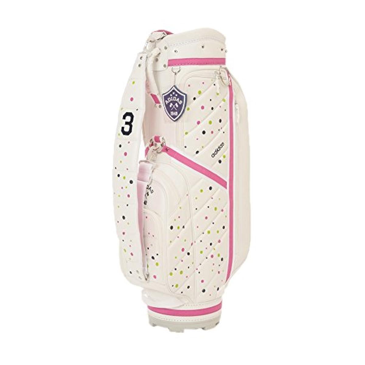 [해외] adidas Golf(아디다스 골프) AWS10 women's ADICROSS 캐디 백3 레이디스 AWS10 A15935:화이트/핑크 8.5타입 46인치 대응 (2015-12-11)