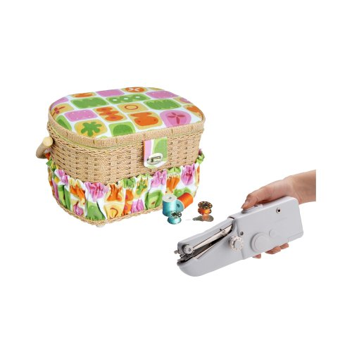 Tivax FS098 Lil Sew & Sew Fs098 Sewing Basket And Handheld Sewing Machine (Michley Lil Sew And Sew Bobbins compare prices)