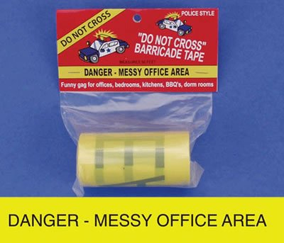 Big Mouth Toys Danger Messy Office Area Tape