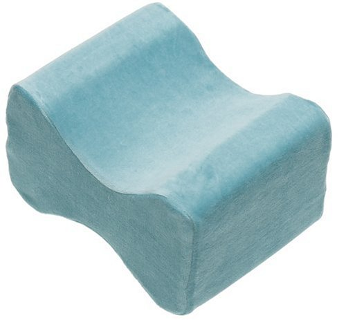 New Contour Memory Foam Leg Pillow with Cover, Blue