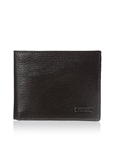 Steve Madden Men's Pebbled Passcase Wallet, Brown, One Size