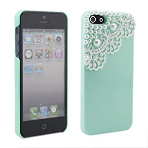 Neewer® Modern Green Pearl Lace Ice Cream Hard Back Case Cover for Apple iPhone 5