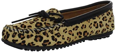 (疯抢)迷你唐卡 Minnetonka Women's Full Leopard 女士豆底豹纹Mocassin鞋 $48.90