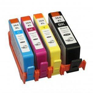 HP 364XL Kompatibles Tintenpatronen-Set, Ersatz für HP364 Druckerpatronen, hohe Leistung, 1x groß Schwarz, 1x Cyan, 1x Magenta, 1x Gelb, 4 Stück