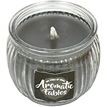 First Row Aromatic Fables 7oz Charlie Fragrance Soy Wax Scented Decorative Gifting Black Color Round Glass Candle