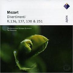Mozart: Divertimenti K.136-138, K.251