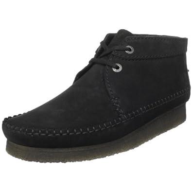 Clarks Men's 76289 Weaver Boot,Black Suede,13 M US