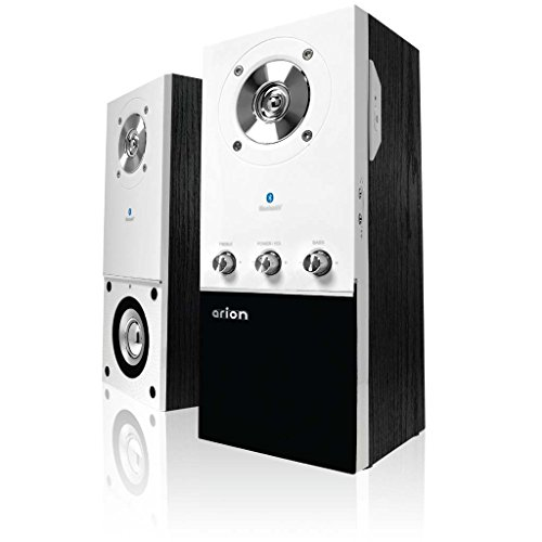 Arion Legacy Ar204B-Wh Desktop Bluetooth Speaker With Headphone/Microphone Inputs & Wall Mount Brackets - 50Watts front-419877