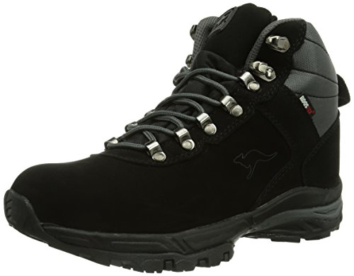 KangaROOS K-Outdoor 3005W, Stivali da neve Unisex - adulto, Nero (Schwarz (black/dk grey 522)), 44 (9.5 uk)
