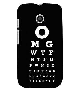 printtech Omg Back Case Cover for Motorola Moto E XT1021::Motorola Moto E (1st Gen)