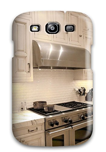 Top Quality Protection White Traditional Kitchen With Stainless Stove Amp Vent Hood Plus Marble Countertop Case Cover For Galaxy S3